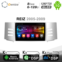6G + 128G Ownice Android 10,0 автомобиль радио плеер GPS Navi для Toyota Reiz Mark X 2005 2006 2007 2008 2009 DVD 4 аппарат не привязан к оператору сотовой связи 1280*720 SPDIF