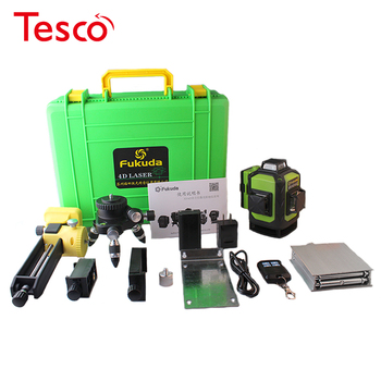 The latest 4D laser level 16 line 532 NM green laser level automatic self-leveling 360 vertical and horizontal tilt & outdoor light detection and ranging using nir 810 nm laser source