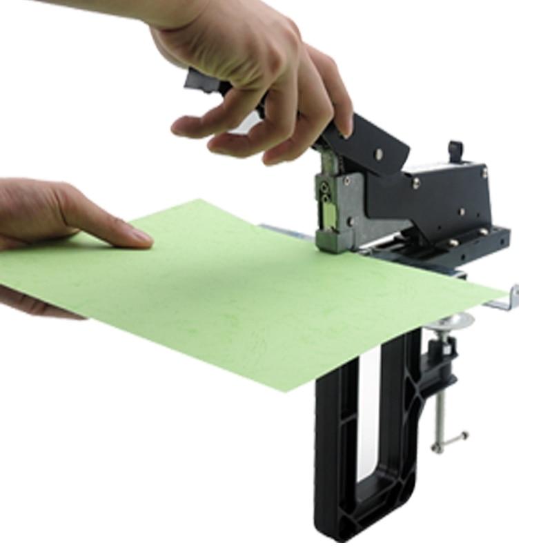 Labor-saving Heavy-duty Manual Saddle Stitch Stapler A3 Flat Nail Saddle Stitch Center Seam Stapler Binding Machine SH-04