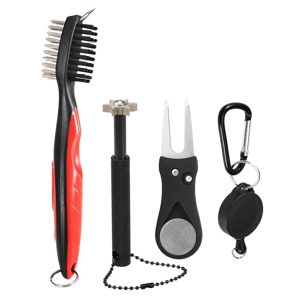 3pcs Golf Club Cleaner Tool Set Golf Sharpener Golf Club Brush Divot Repair Tool Golf Club Cleaner Tool