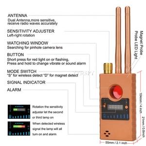 Image 3 - 와이파이 핀홀 숨겨진 카메라 탐지기 듀얼 안테나 G529 RF 신호 비밀 GPS 오디오 GSM 모바일 마이크로 캠 안티 솔직한 스파이 버그 파인더