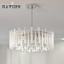 Современный прямоугольный светодиодный прозрачный хрустальный люстра для спальни для украшения гостиной отеля