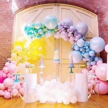 40/80Pcs Birthday Balloons Pastel Party Rubber Balloons  Garland Colorful Candy  Wedding Party Decoration Helium Balloon Arch