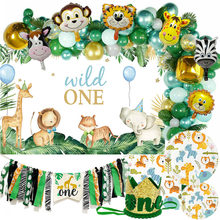 Wild One Birthday Party Balloon Garland Arch Jungle Safari Party Forest Decoration Kids First 1st Birthday Jungle Party Supplies