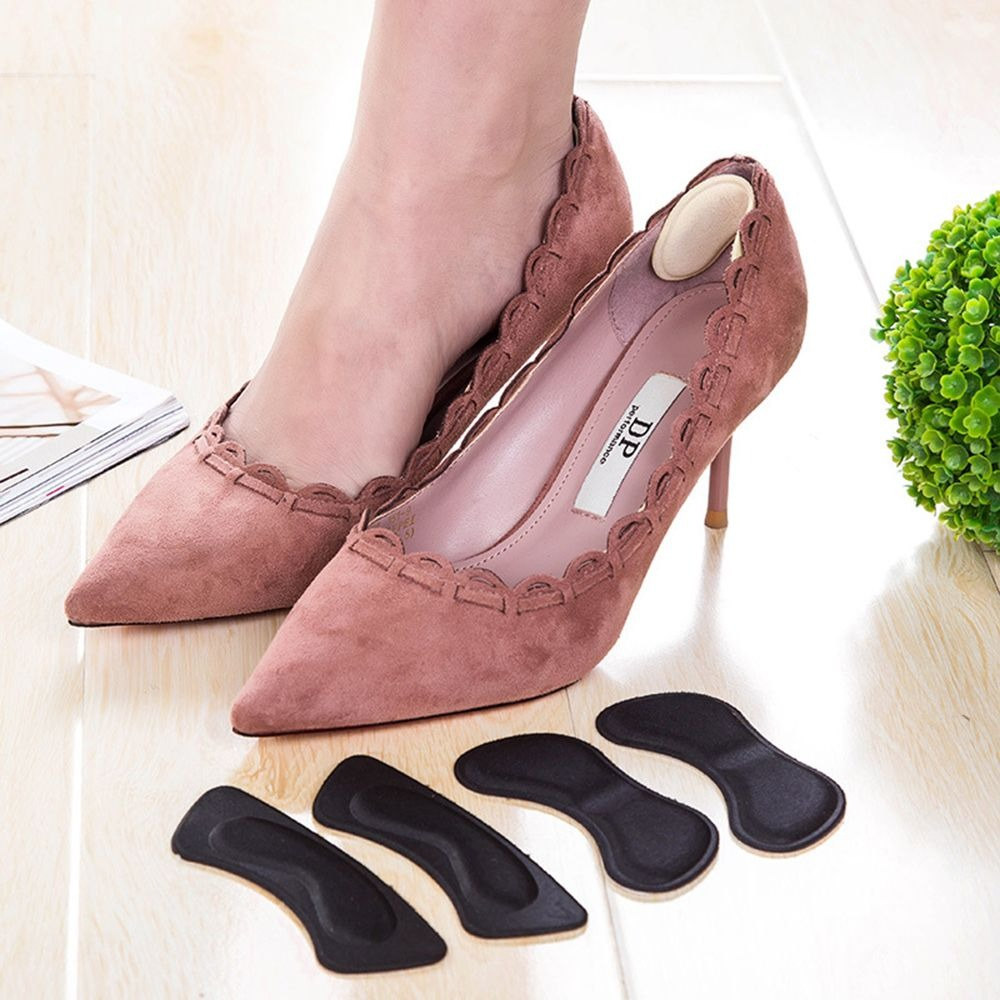 1 Pair High Quality Sponge Invisible Back Soft Heel Pads For High Heel Shoes Grip Adhesive Liner Cushion Insert Pads Insoles