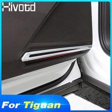 Hivotd For VW Tiguan MK2 2019 ABS Inner Door Stereo Speaker Audio Sound Decoration Strip Cover Trim Interior Refit Car Styling цена и фото