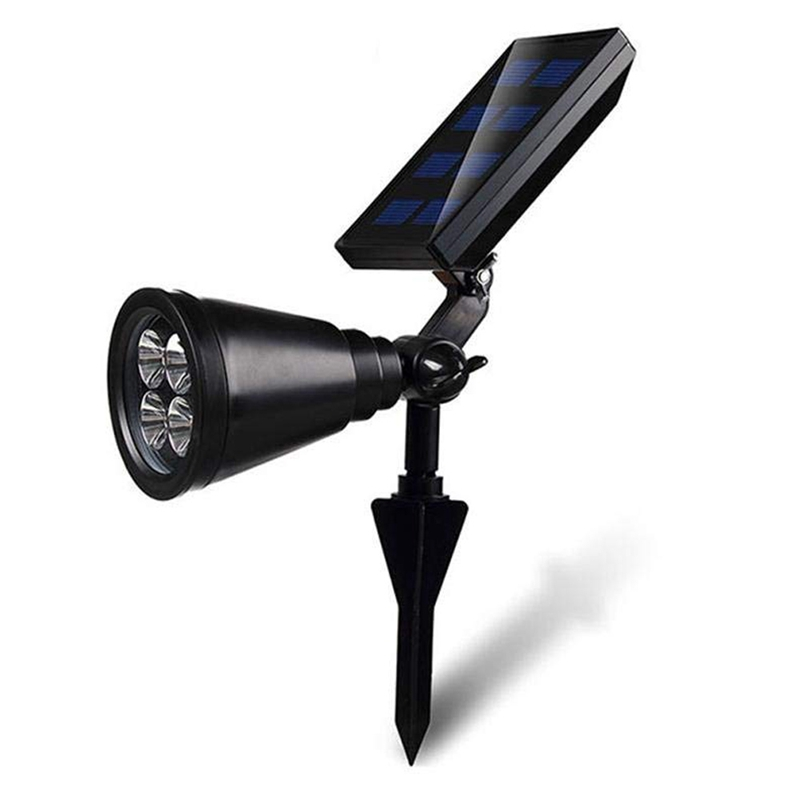 New Upgrade Solar Garden Spotlight, Ground Landscape Lights Adjustable Waterproof Outdoor Security Light Auto On/Off For Backyar