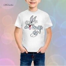 LBG new Bunny T-shirt 3D Print Halloween Childrens T-Shirt Fashion Short Sleeve Harajuku