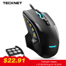 TeckNet 16400DPI Gaming Mouse Laser 10 Programmable Macro Button RGB Backlight 3 LED Light Modes Wired MMO Computer Mice