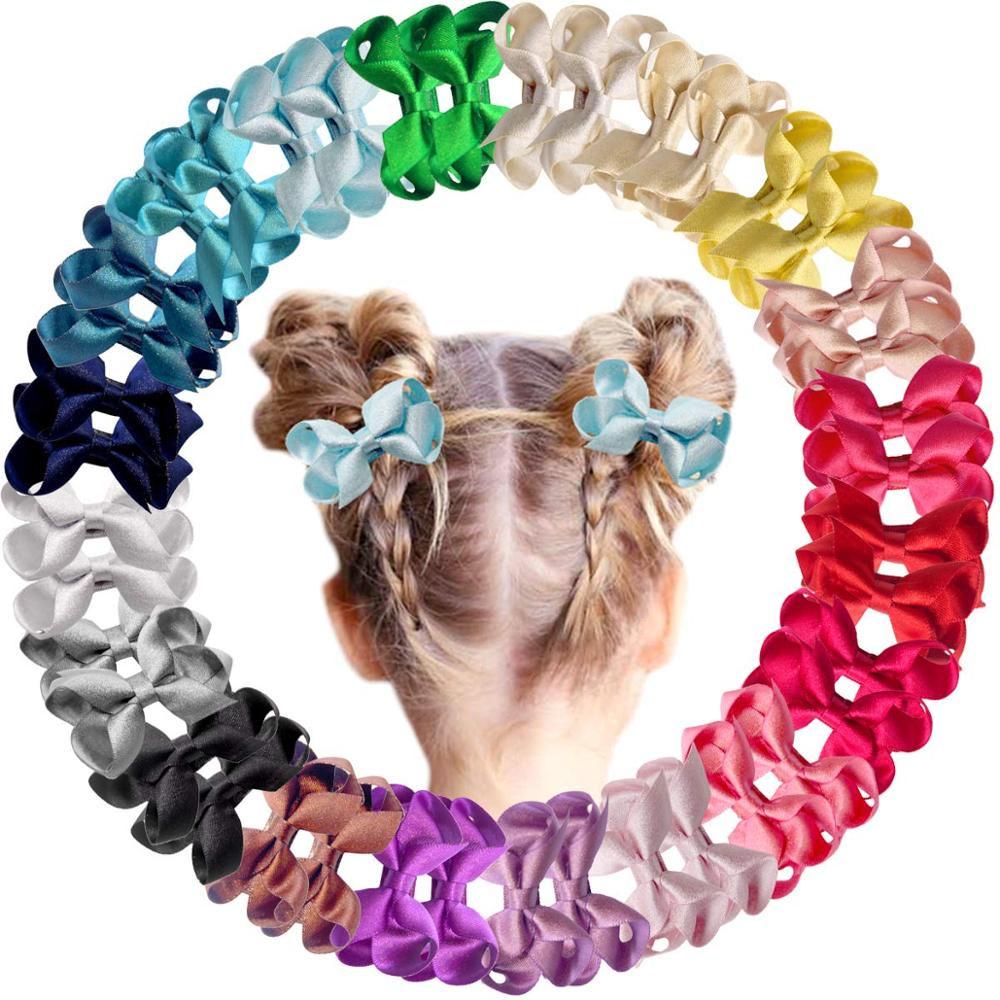 40 Pieces Baby Girls Fully Lined Hair Pins Glitter Tiny 2