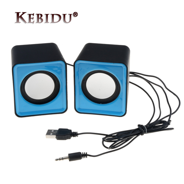 Kebidu Portable USB 2.0 multimédia ordinateur de bureau Portable Mini haut parleur Portable musique stéréo Home cinéma haut parleur de fête 3.5mm