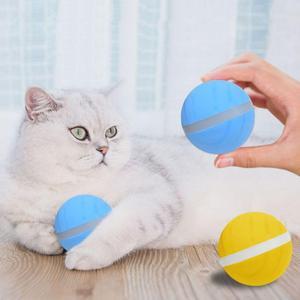 Новый взрывной мяч для прыжков для домашних животных USB Электрический светодиодный шарик для катания на роликах забавная игрушка домашние ...