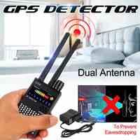 G318A Dual antenna Anti-Spy GPS Senza Fili Del Segnale Del Rilevatore Automatico Finder racker Scansione di Frequenza Spazzatrice Proteggere di Sicurezza