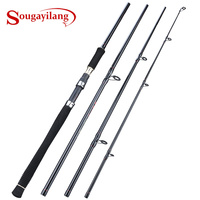 Sougayilang 2,7 M Spinning Angelrute Tragbare 4 Abschnitt Karpfen Angelrute Fest Carbon Fiber Reise Angelrute Tackle