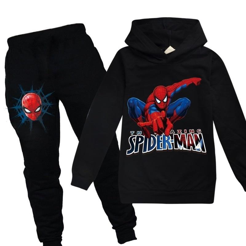 Spiderman Hoodies Kids Sweatshirts Fashion Kids Hooded T Shirt Baby Toddler Girls Coat Kids Clothes Boys Casual Tees Sportswear