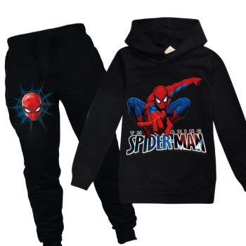 Spiderman Hoodies Kids Sweatshirts Fashion Kids Hooded T Shirt Baby Toddler Girls Coat Kids Clothes Boys Casual Tees Sportswear