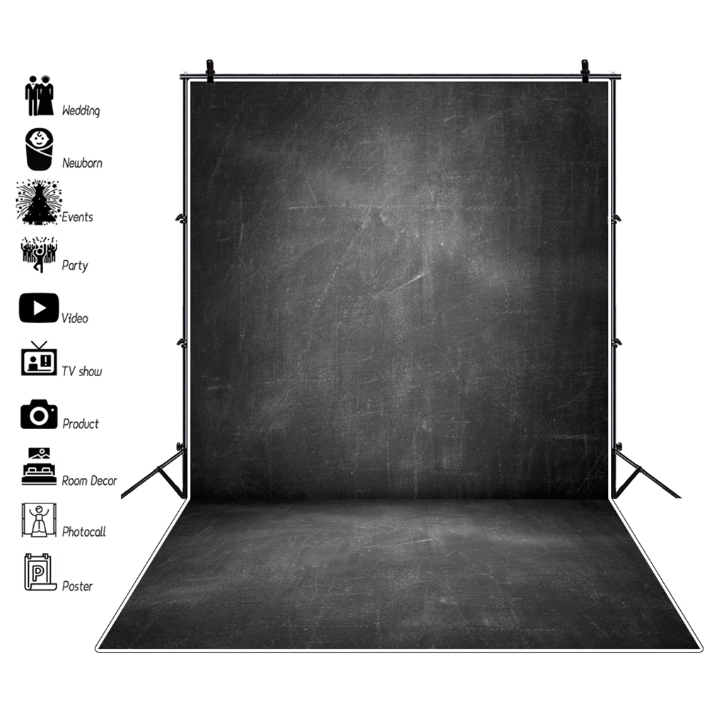Preto blackboard parede do vintage bebê retrato de volta à escola fundo fotografia para estúdio de fotografia vinil photophone