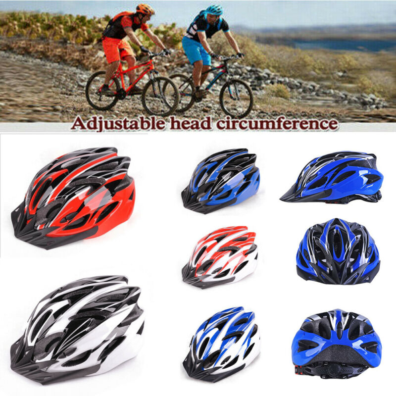 Cycling Bicycle Adult Men Womens Bike Cycling Adult Adjustable Unisex Safety Helmet with Visor NEW