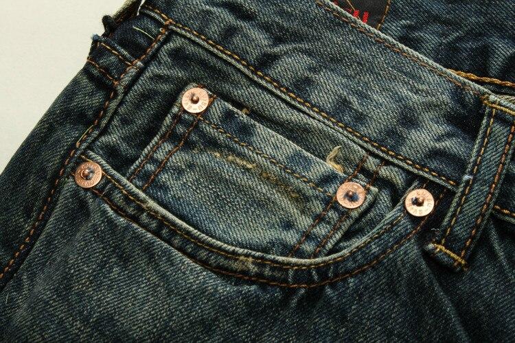 Autentyczne męskie oddychające wysokiej jakości modne spodnie ciepłe męskie dżinsy z dziurami prosty nadruk średnio wysoka talia męskie spodnie
