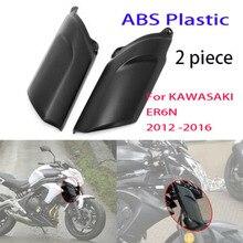 For KAWASAKI ER6N 2012   2016 ER 6N Motorcycle ABS Front Fender Fork Shock Cover Fairing Cowling Guard ER 6N 2015 2014 2013