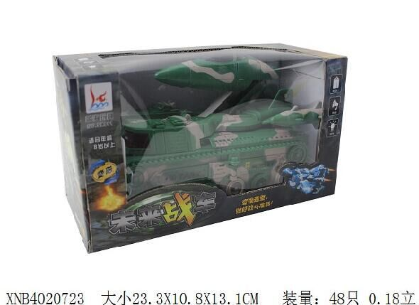 New Style Automatic Transformation 8.01 Million To Light Tank Fighter Plane Perambulator Electric Toys ENLIGHTEN Toy