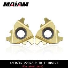 Inserción de rosca 16ER, herramienta de torneado, varilla interna y externa para pieza de acero, 16IR 22ER 22IR TR 1,5 2 3 4 5 6