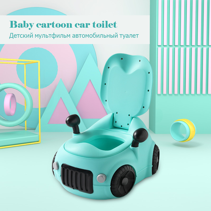 New Drawer Type Children's Toilet Baby Cartoon Car Toilet Bedpan Boy Girl Universal Potty Toilet Increased Thicker Padded Toilet