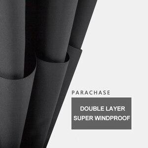 Image 4 - Parachase 135Cm Lange Steel Paraplu Regen Vrouwen Grote Houten Handvat Clear Paraplu Zakenlui Winddicht Double Layer Paraguas