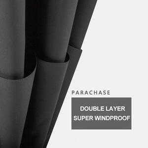 Image 4 - Parachase 135cm Long Handle Umbrella Rain Women Large Wooden Handle Clear Umbrella Business Men Windproof Double Layer Paraguas