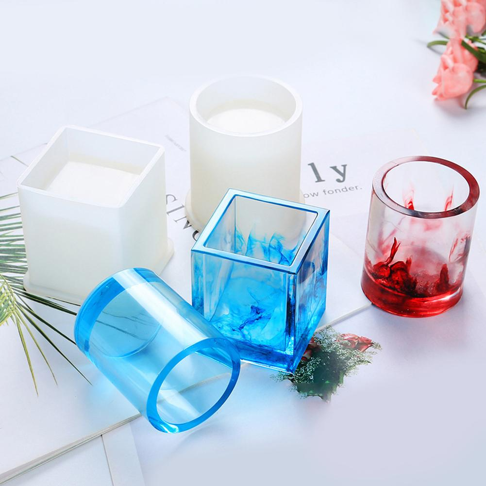 2020 Silicone Epoxy Resin Diy Pen Container Organizer Square Round Storage Holder Silica Molds Crafts Jewelry Making Charms From Watcheshomie 32 21 Dhgate Com
