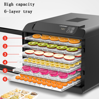 Food Dehydrator Dried Fruit Machine Home Layer 6 Fruit Vegetables Pet Meat Food Dryer Air Dryer