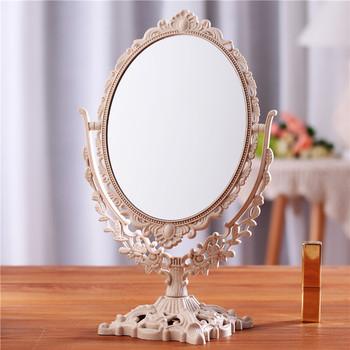 Stołowe lusterko do makijażu lusterko w europejskim stylu dwustronne podświetlane dormitorium lusterka do makijażu przybory kosmetyczne lusterko kosmetyczne tanie i dobre opinie CN (pochodzenie) Nie posiada European-style Mirrors 2-face Lustro do makijażu makeup mirror mirror dormitory desktop