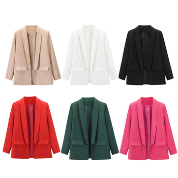 Women Ladies Spring Autumn Casual Long Sleeve Slim Blazer Suit Coat Work Jacket Formal Blazers 2020