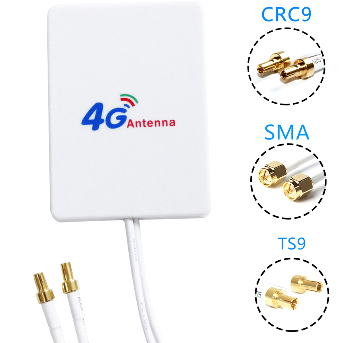 3 Meter 3G 4G LTE Router Modem Aerial External Antenna With TS9 / CRC9 / SMA Connector Cable