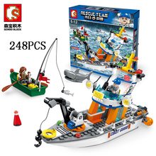 Senbao building block Marine rescue mothership military puzzle assembly children toy boy gift compatibility 9551 9552