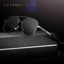 VEITHDIA Мужские Винтажные алюминиевые магниевые солнцезащитные очки поляризованный фотохромный объектив классический бренд солнцезащитные очки для вождения для мужчин