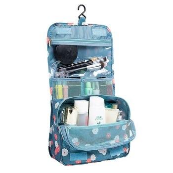 Fashion Unisex Travel bag Cosmetic Makeup bag Women Toiletries Storage Organizer Waterproof Neceser Hanging Bathroom Wash Bag