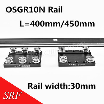 цена на 30mm width  Aluminum roller Linear Motion Rail OSGR10N L=400/450mm Bearing slide block OSGB10N Double shaft-linear rail
