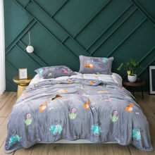 3Pcs blankets sets twin full queen dinosaur blankets soft Flannel gray Throw blanket on Bed/car/sofa luxury cartoon blankets(China)