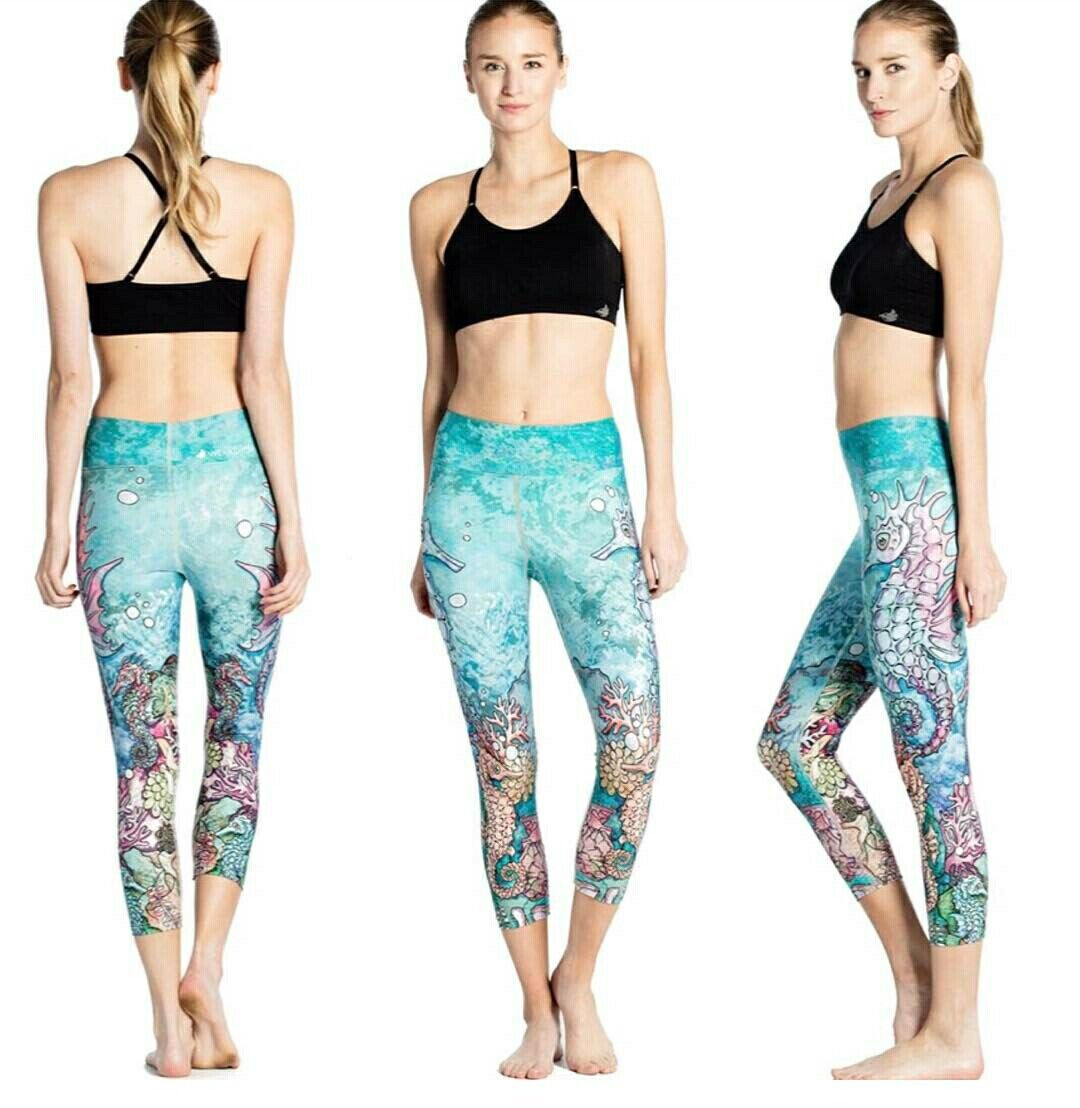 New Slim S Breath And Sweat Inhalation Seahorse Printed Lady Seven-point Lady Pants Leggings