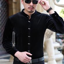 I zimowe męskie koszulki z długimi rękawami metroseksualne koszule biznesowe w stylu casual gentleman tanie tanio Mikrofibra COTTON Tuxedo koszule Pełna Skręcić w dół kołnierz Pojedyncze piersi REGULAR u8887 Suknem Smart Casual