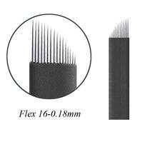 100 Lâminas Microblading Tebori Agulha 7/9/11/14/12/14/16/18/21 Flex 0.18 milímetros Micro Agulha Fina