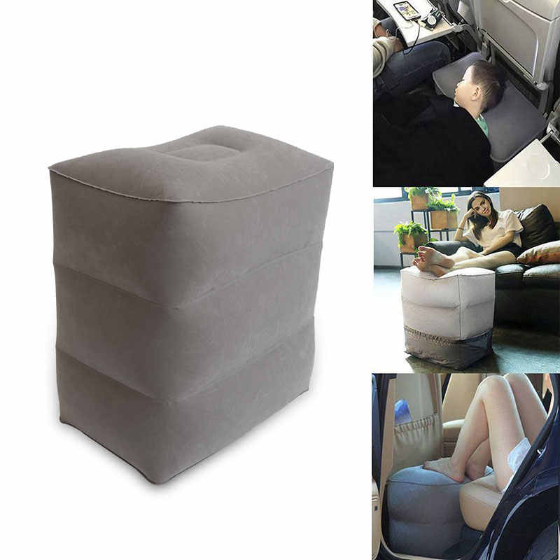 Anak-anak Penerbangan Tidur Beristirahat Folding Bantal Di Pesawat Mobil Bus Bantal Inflatable Perjalanan Kaki Sisanya Bantal Kaki Pad dengan Air pompa