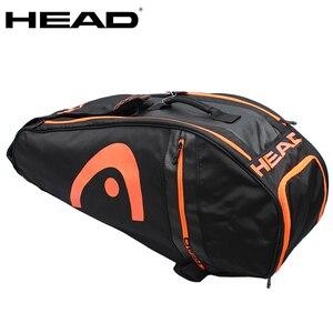 Original Head Tennis Bag Badminton Racket Bag Double Shoulder Bag Multi-function Bag For 6-9 Rackets