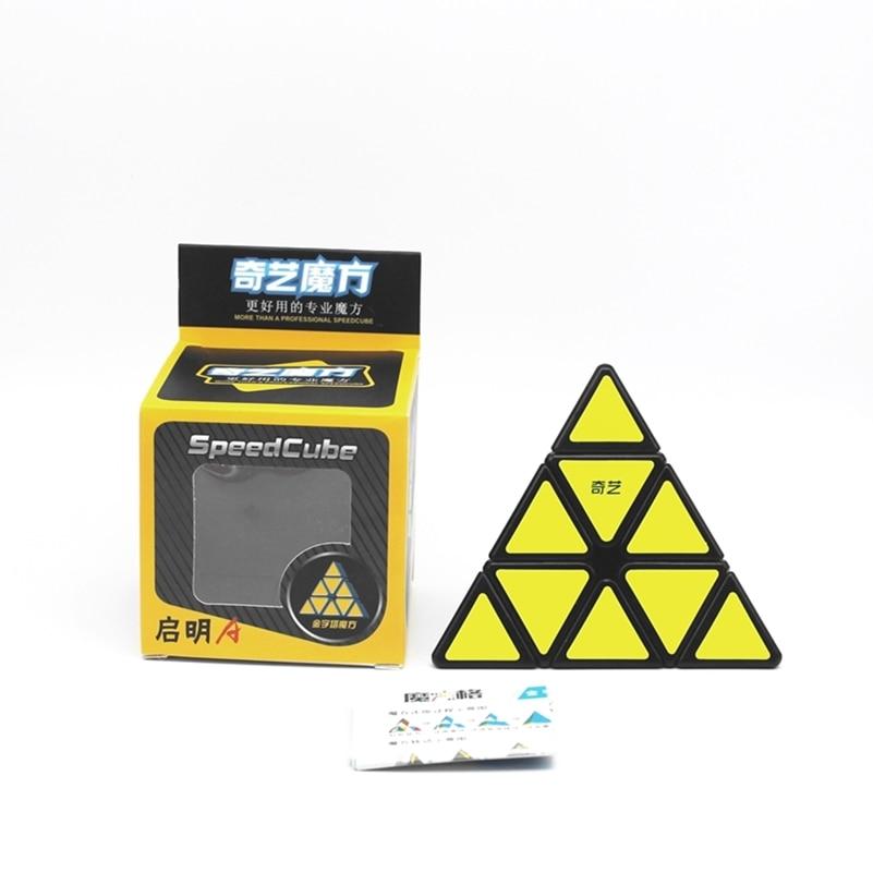 QiYi piramit sihirli küp 3x3x3 profesyonel küp oyuncaklar Qiyi hız küp bulmaca oyunu küp eğitici oyuncaklar çocuklar için