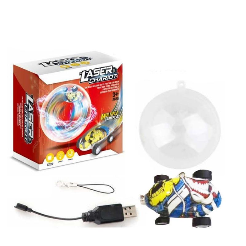 Race Car Toy Mini High-Speed Laser Car Pocket Mini Toy Car 360-Degree Rotating Stunt E-Bike
