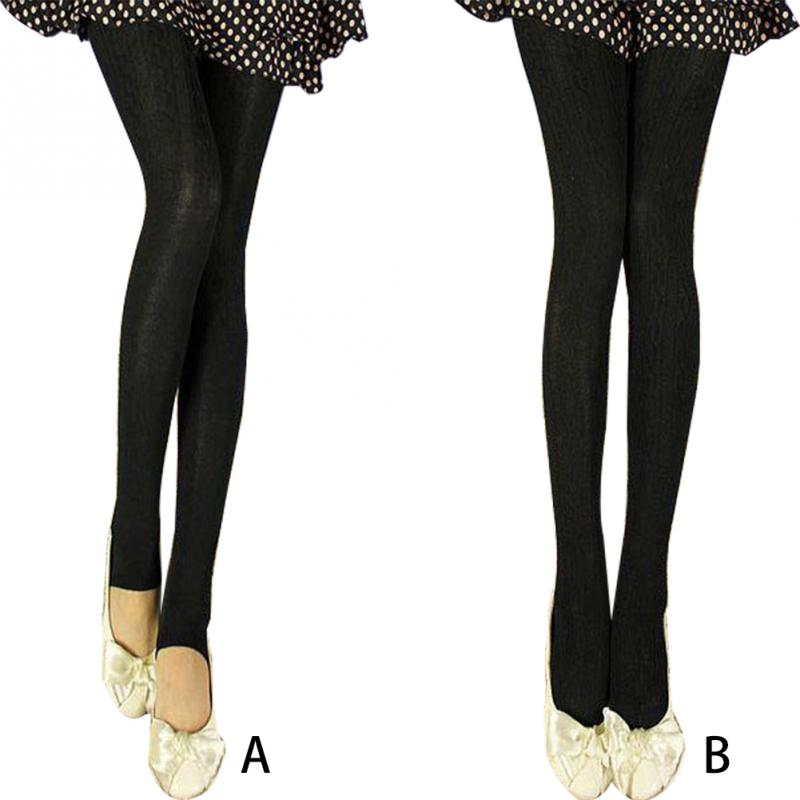 Women Leggings Stretch Casual Autumn Winter Tights Keep Warm Solid Polyester Thermal Printed Slim Fit Opaque
