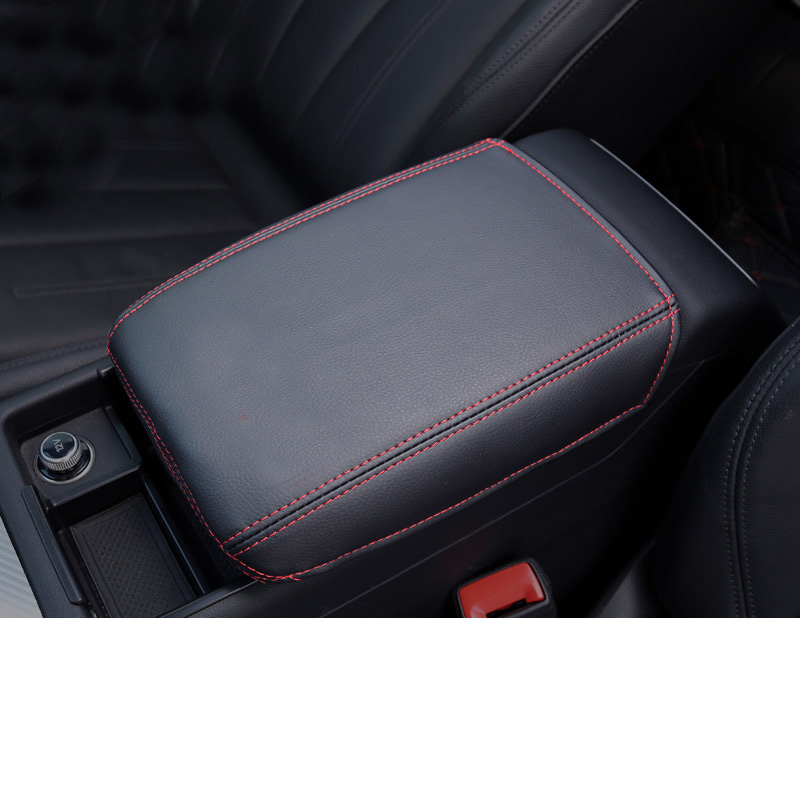 Lsrtw2017 Fiber Leather Car Central Control Armrest Cover for <font><b>Audi</b></font> <font><b>A4</b></font> <font><b>2017</b></font> 2018 2019 2020 Accessories image