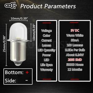 4x DC 3V 6V PR2 P13.5S 2835 Светодиодный комплект для преобразования для велосипеда фонарь для работы фонарь для замены лампочки 4300K