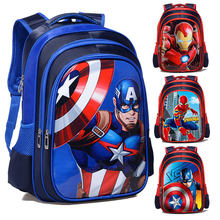 The Avengers Iron Man Spiderman Captain America Boy Girl Children Kindergarten School bag Teenager Schoolbags Student Backpacks(China)